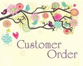 Custom order for Jayne - Meadowsweet cover w/ wristlet strap