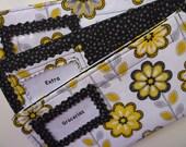 Three Designer Fabric Cash Envelopes