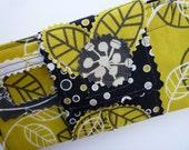 Five Designer Fabric Cash Envelopes With Velcro Wrap