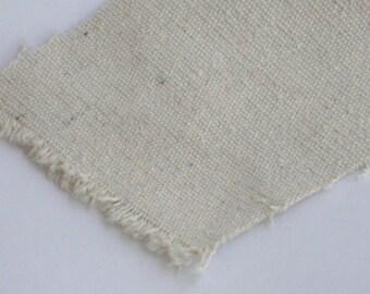 canvas fabric  off white color B GRADE  plain  pattern cotton linen canvas
