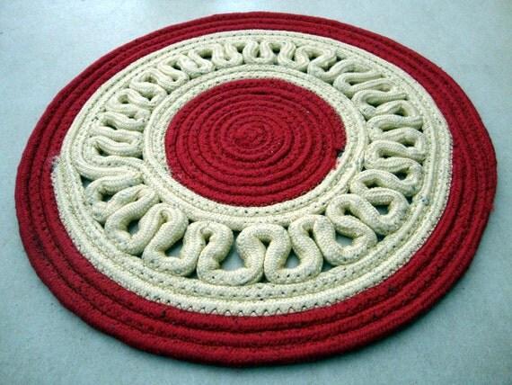 Rope mat  rope  floor mat  round mat