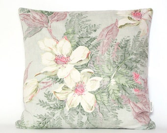 Hollywood Magnolia - 1930s cotton/linen - cushion cover (insert not included)