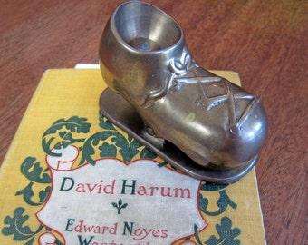 Vintage Solid Brass Shoe Paper Weight/Clamp, Rustic Farmhouse, Vintage Desktop Office Supplies