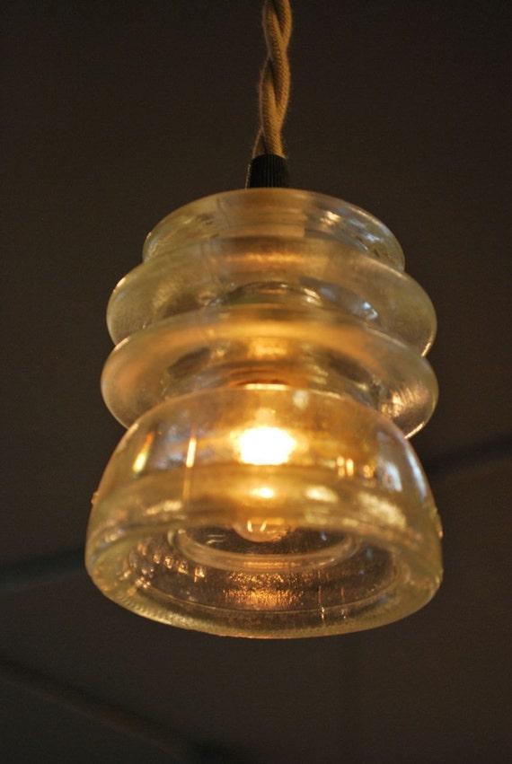 Items similar to repurposed antique insulator pendant for Antique insulator pendant lights