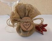 Wedding Decoration Favor Bag Round Burlap - SET of 150