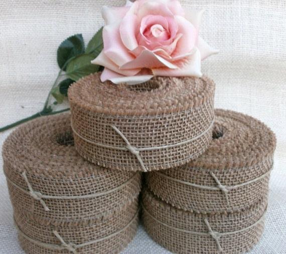 "Burlap Ribbon 2"" wide 11 yds Wedding Decoration Invitation Supply DIY Craft Burlap"