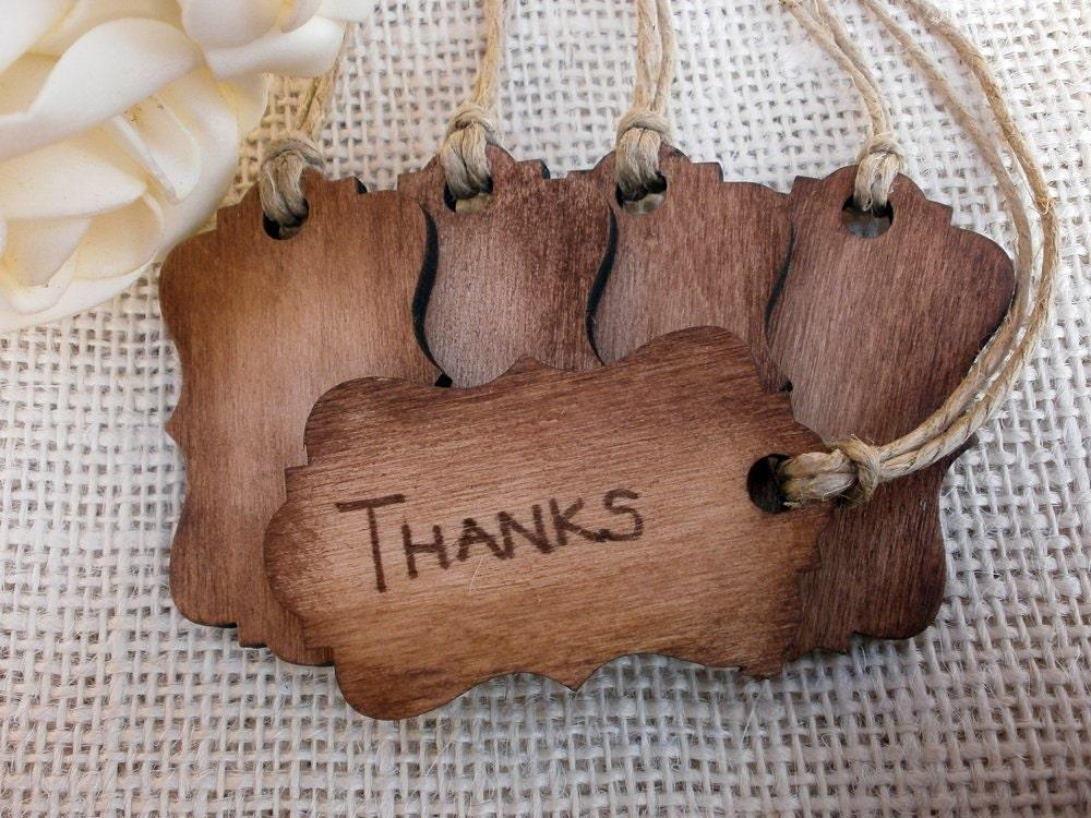 Rustic Wedding Gift Tags : Rustic Wood Favor Tags Wedding Decor by MelindaWeddingDesign