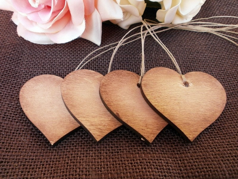 to Rustic Wood Heart Gift Tags Wedding Favor Tag Bridal Shower Wedding ...