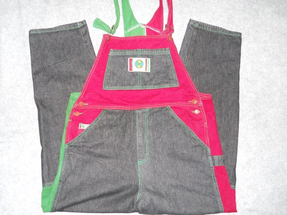 Items similar to Reserved for nish Rare Vintage Deadstock Cross Colours Overalls Bibs jeans hip ...