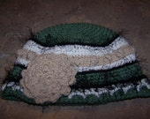 Beautiful handmade crocheted hats (mittens sold separately)