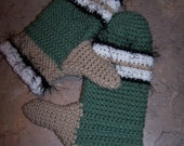 Beautiful handmade crocheted mittens (hat sold separately)