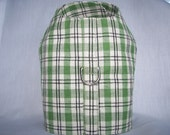 Dog Harness Vest - Light Green Plaid