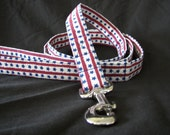 "i"" wide 5ft long Fourth of July Dog Leash - Stars and Stripes"