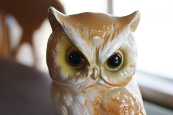 Owl Figurine for Your Mod Decor - Chi Omega Style