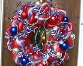 30 inch Stars and Stripes Patriotic Wreath