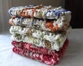 Crochet Dish Cloth-Kitchen Decor-Wash Cloth Set - Multicolored