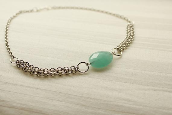 Blue Amazonite Choker Necklace