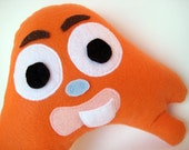 Tooth Pillow for a Boy or Girl - Orange Monster