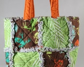 Frogs and leaves small rag bag