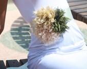 Natural chiffon flower wedding dress belt,sash