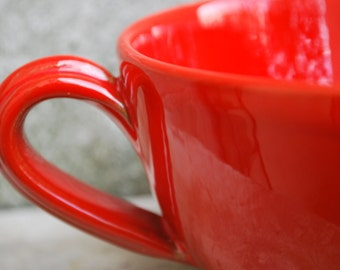 Beautiful Deep Red Ceramic Mug