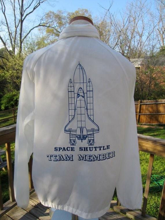 SALE 30% OFF Space Shuttle Team Member Windbreaker Roll Up Hood S M L