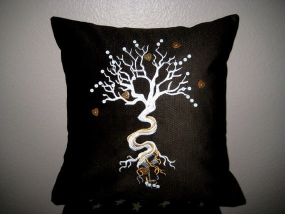 """Tree of Life Decor Pillow Cover 16"""""""
