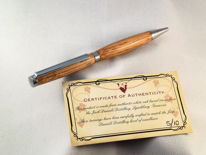 Handcrafted Jack Daniels Oak Barrel Pen By Reesewoodcraft