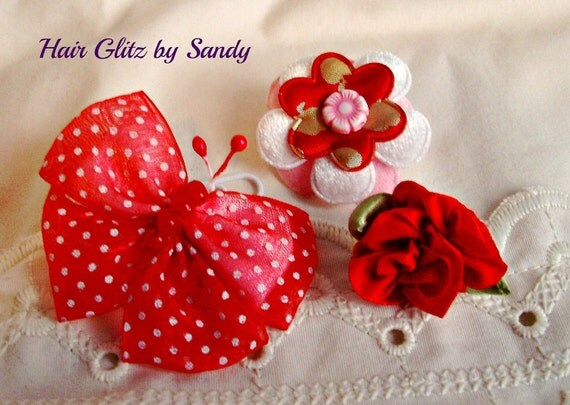 Pet Bows - Collar Bow - Leash Bow - Groomer Bow - Flowers - Butterflies