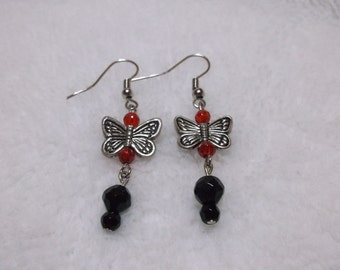 butterfly in black and red