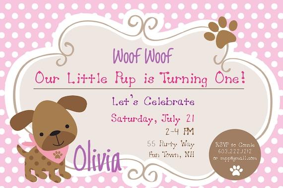dog birthday party invitations puppy dog party invites 1st, Birthday invitations