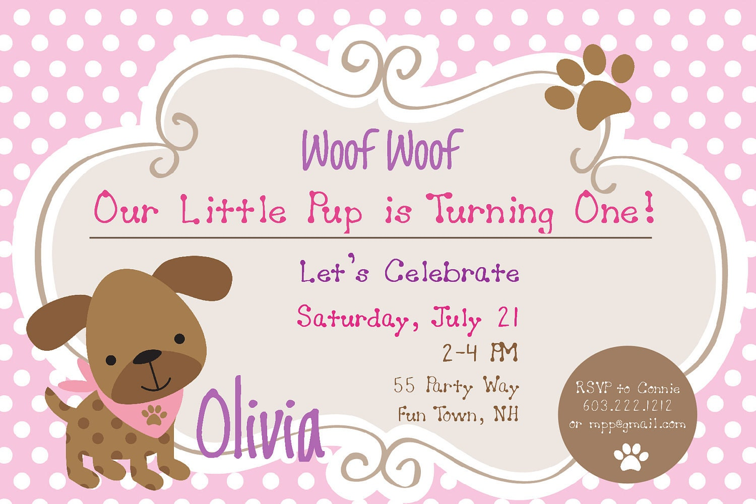 Dog Birthday Party Invitations Free Amazing Invitation Template