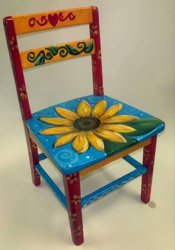 Items similar to Childrens Sunflower Time Out Chair