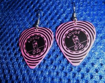 Rouge Guitar Pick Earrings