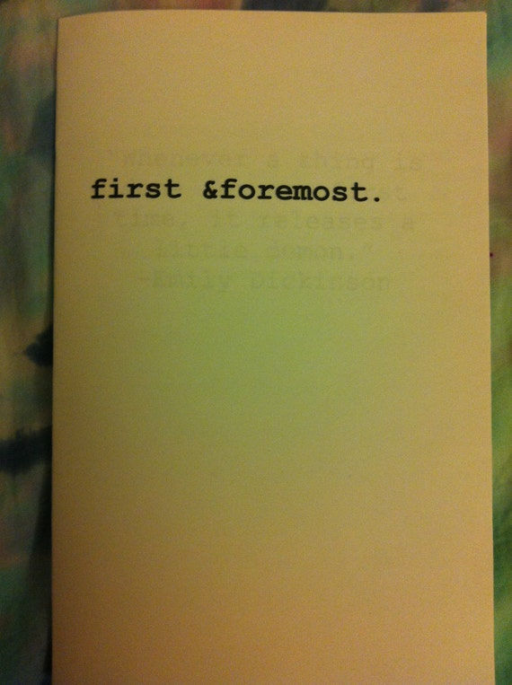 first &foremost ZINE