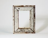 Reclaim Wood Frame - Antique Heart Pine White Frame Southern Reclaimed Wood 4x6 Ready to Ship