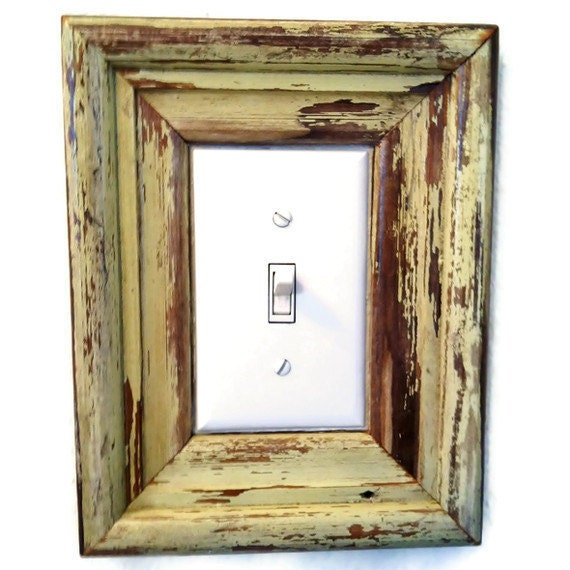 CUSTOM Reclaimed Wood Frame, Light Switch Cover, New Orleans Salvage Moulding