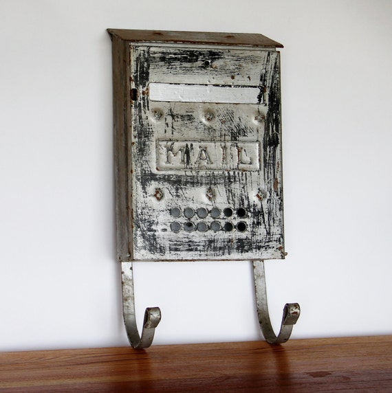 Vintage Mailbox, Letter Holder - Wedding Cards - Cottage Decor