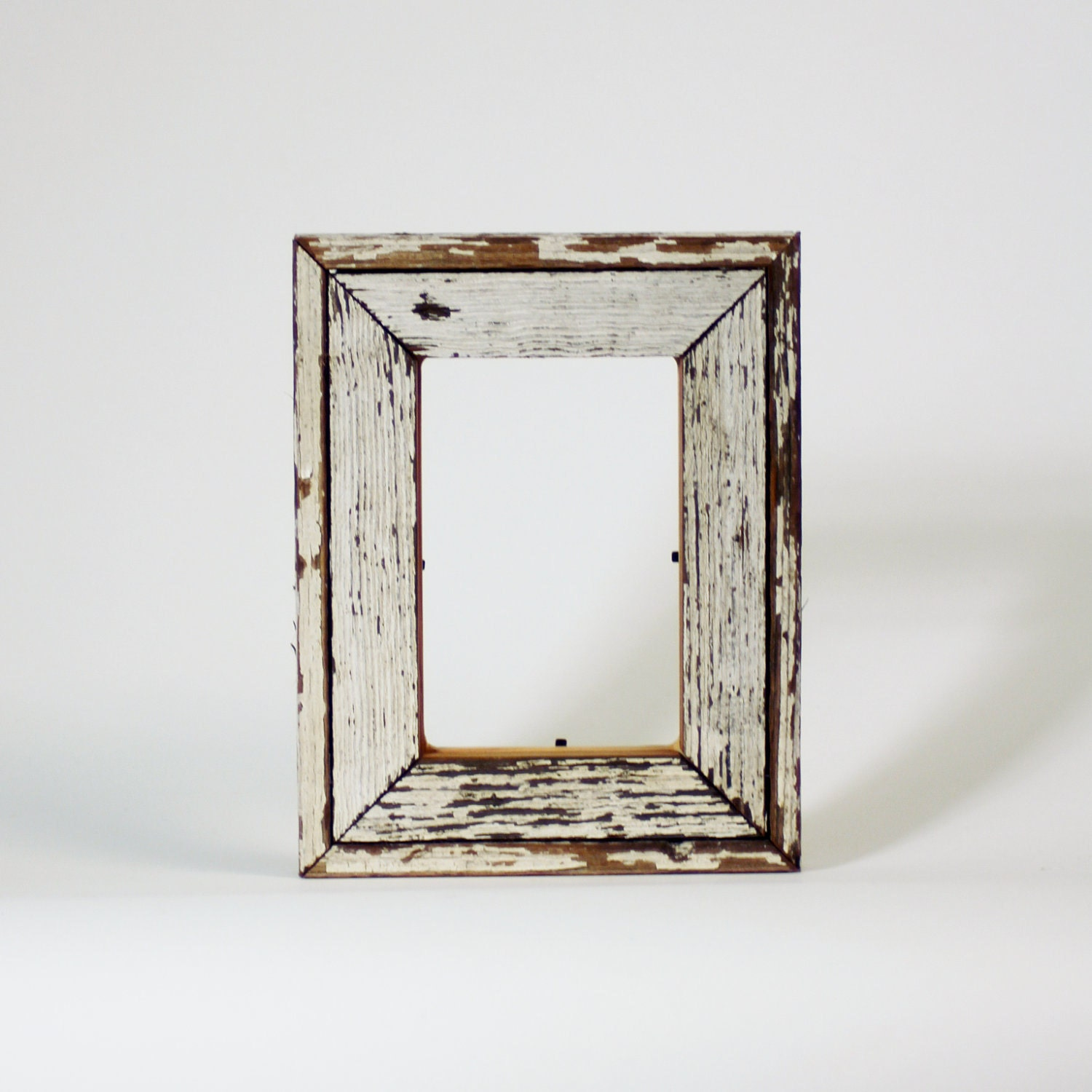 White Wood Frame : Reclaim Wood Frame Antique Heart Pine White by RestorationHarbor