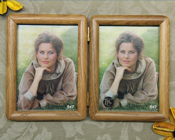 5x7 vertical double hinged picture wood frame by maryscollections. Black Bedroom Furniture Sets. Home Design Ideas