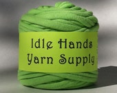 Lime Green Tarn Recycled T Shirt Yarn - 20 Yards 4 WPI