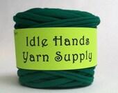 Green Eco Friendly Recycled T Shirt Yarn - 37.25 Yards 4 WPI