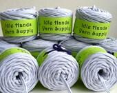 Lt Grey Recycled T Shirt Yarn Event T Bundle - Lot of 10 balls totaling 304.75 Yards 4 WPI Lot4