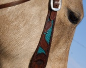 Horse bridle - vibrant colors and custom tooling