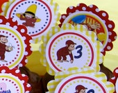 Curious George Inspired Cupcake Toppers