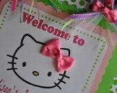 Hello Kitty Door Sign