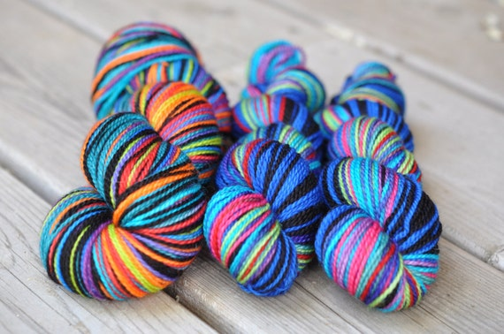 Special Listing for DENISE - Half 'n Half Crazy Stripes Colorway Comic Relief and Crazy Stripes Colorway A Million Laughs