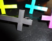 Adjustable Two Finger Cross Ring - New Colours