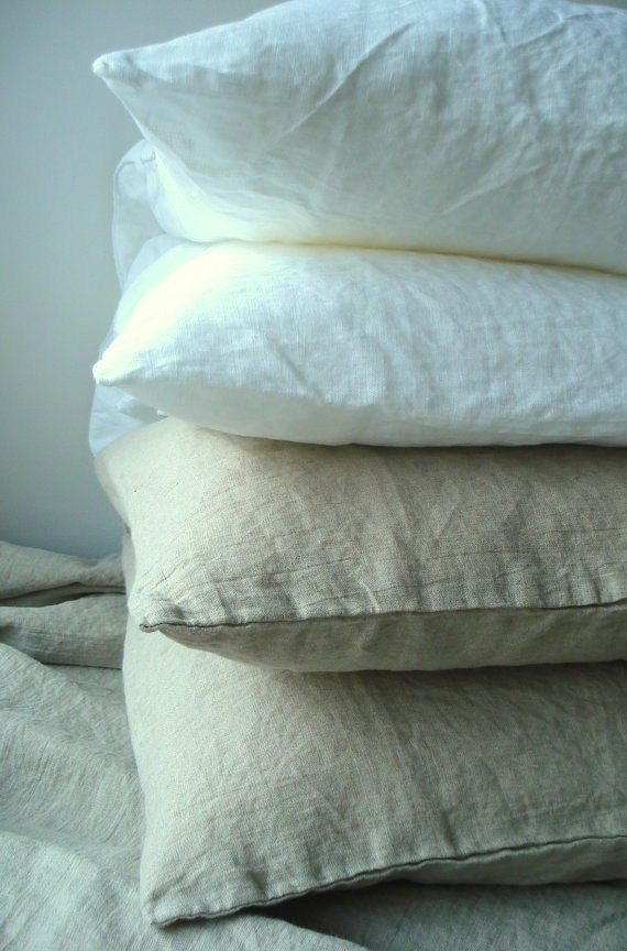 Pure Linen Fitted Sheet King size  SHIPPING WORLDWIDE  Optic white Off white Natural linen Taupe Prewashed Soft Day bed
