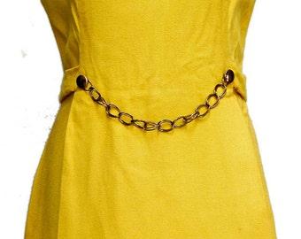 Mellow Yellow 60s Sleeveless Dress